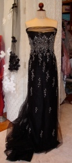 embroidered tulle drape