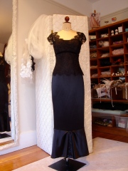 silk and french lace dress
