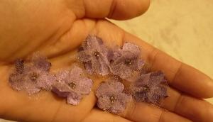 petite handmade tulle flowers