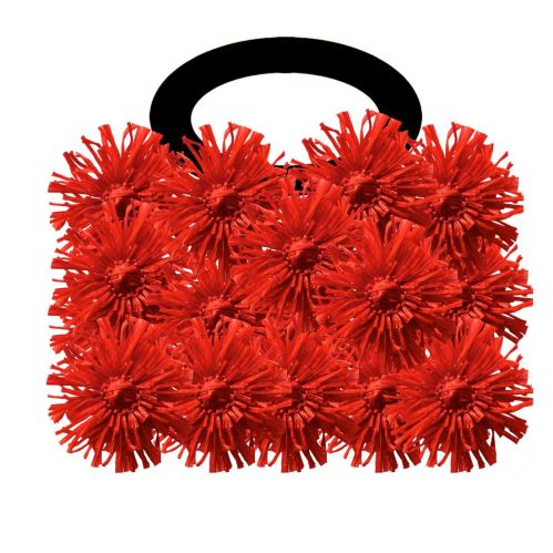raffia flower bag