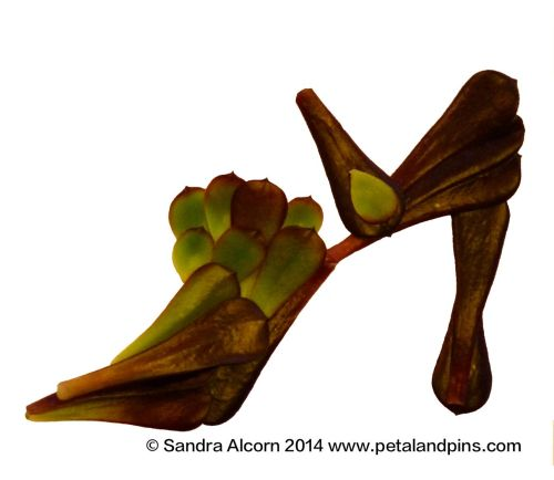 Garden Fairy's shoes © Sandra Alcorn 2014
