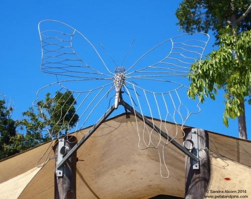 butterfly scupture Paronella Park