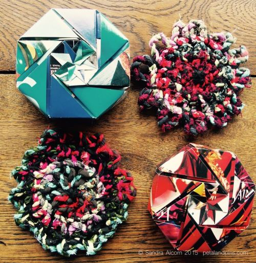 origami box and fabric twine trivet