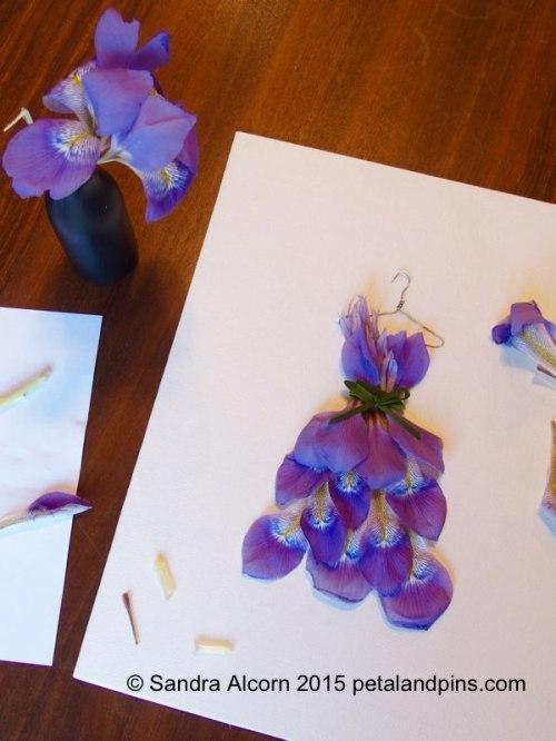 swamp iris garden fairy's wardrobe dress by petal & pins