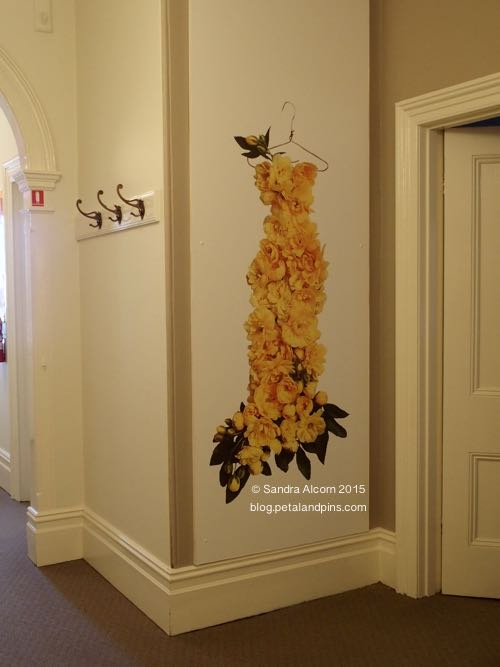 petal & pins banksia rose dress wallpaper