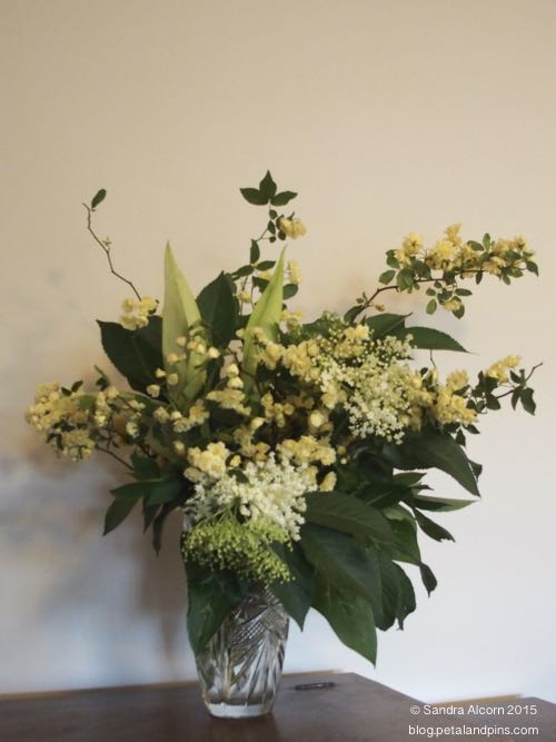 banksia rose flower arrangement