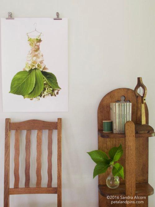 petal & pins hydrangea gown print