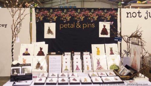 the petal & pins stand at Bowerbird Bazaar