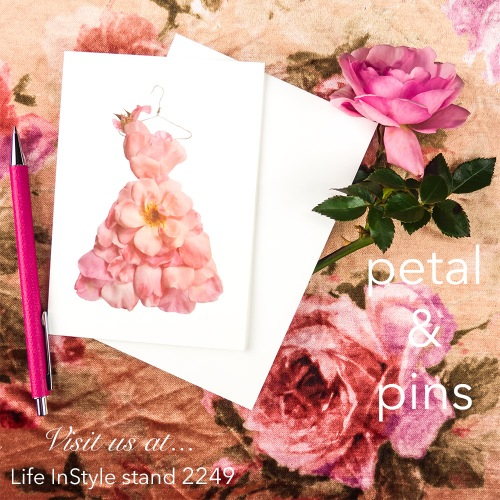 petal & pins at LIS rose card